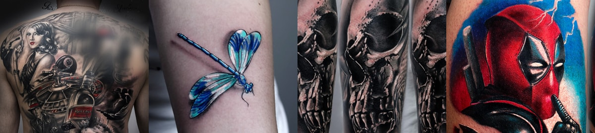 Wykonane tatuaże na kursie